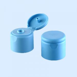 Plastic flip top containers